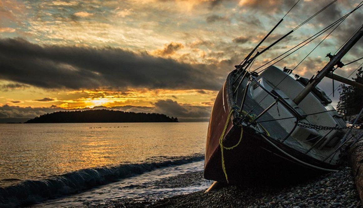Kanada Sunshine Coast Ship