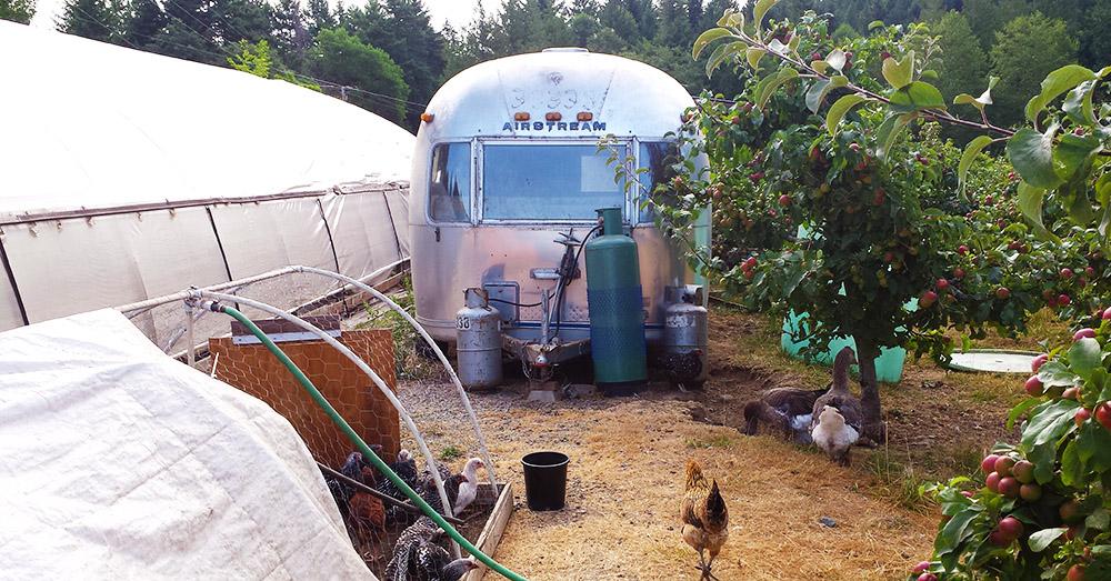 Bild zeigt den Air Stream Camping Wagen
