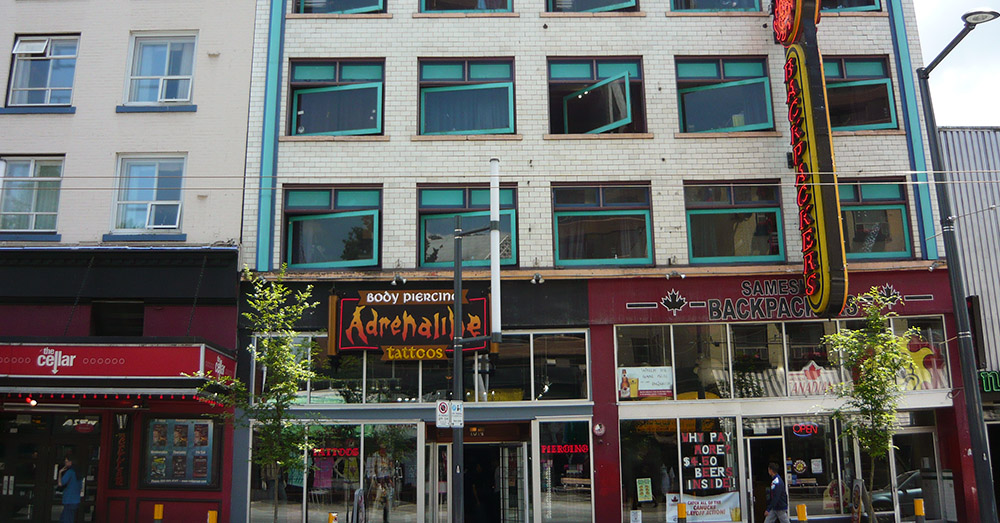 Bild zeigt die beliebte Work and Travel Unterkunft das Samesun Hostel in Vancouver