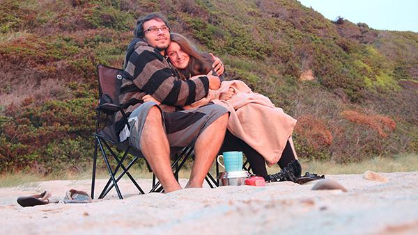 Christina und Daniel am Strand