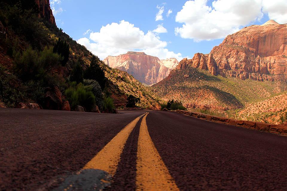 Eine Strasse im Zion National Park