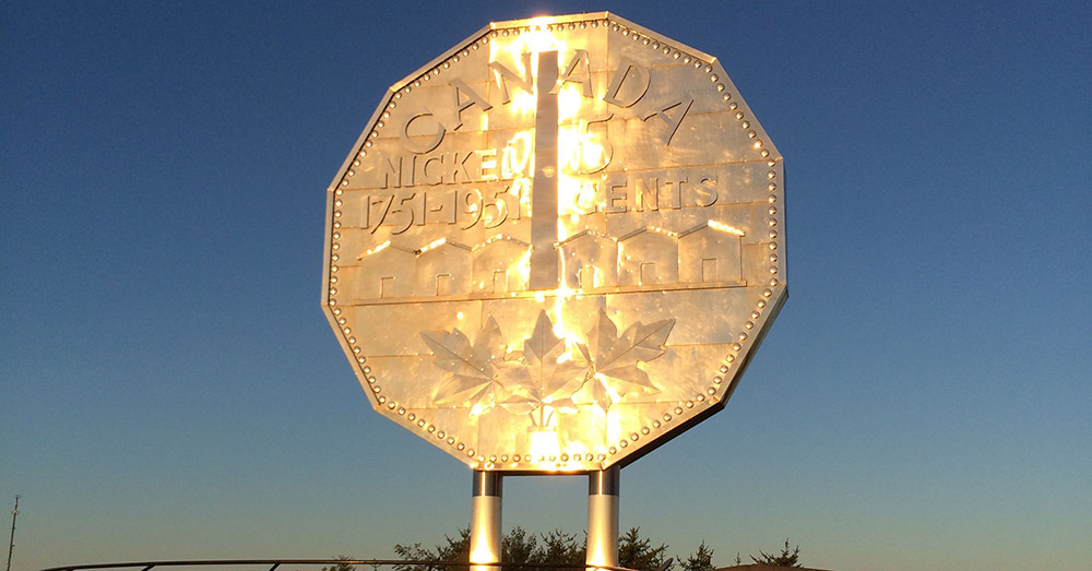Bild zeigt the big Nickel in Sudbury