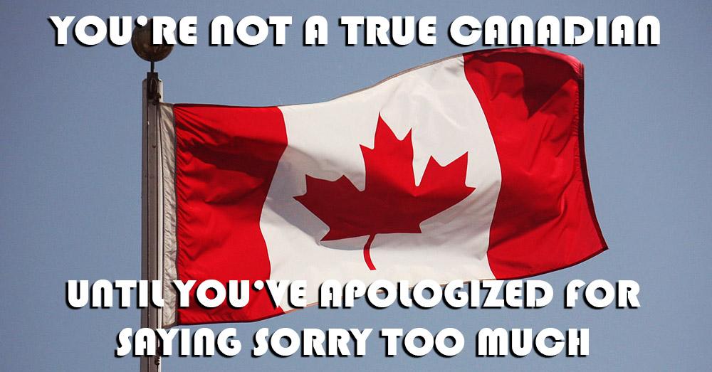 Bild zeigt einen Spruch ueber Kanada