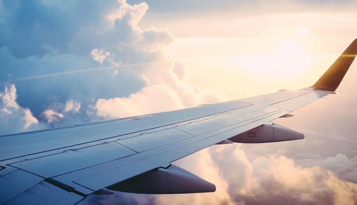 Bild zeigt ein Flugzeugflügel