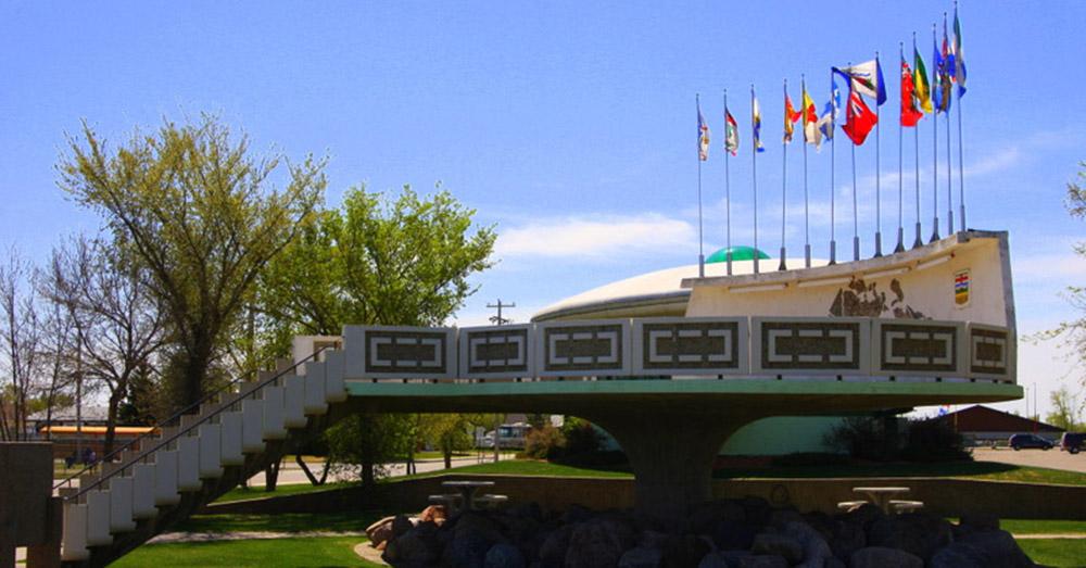 Bild zeigt den UFO Landeplatz in Alberta