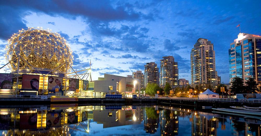 Das Bild zeigt die Science World in Vancouver
