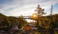 Das Work and Travel Unterkunft Bild zeigt ein Zelt in den Bergen