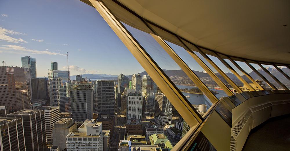 Bild zeigt Vancouver vom Lookout Tower aus