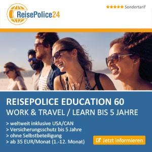 ReisePolice24 - Education60 Beste Work and Travel Kanada Versicherung