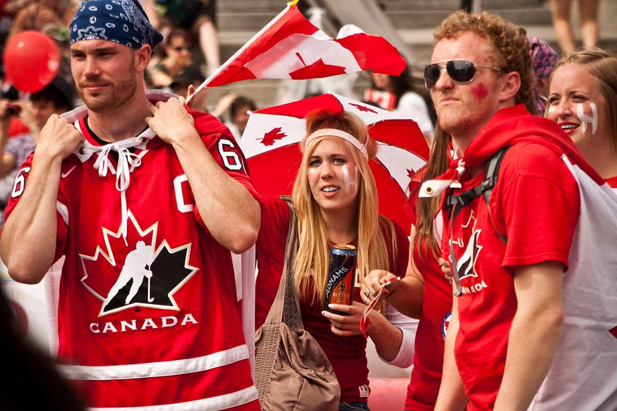 Kanadier am Canada Day
