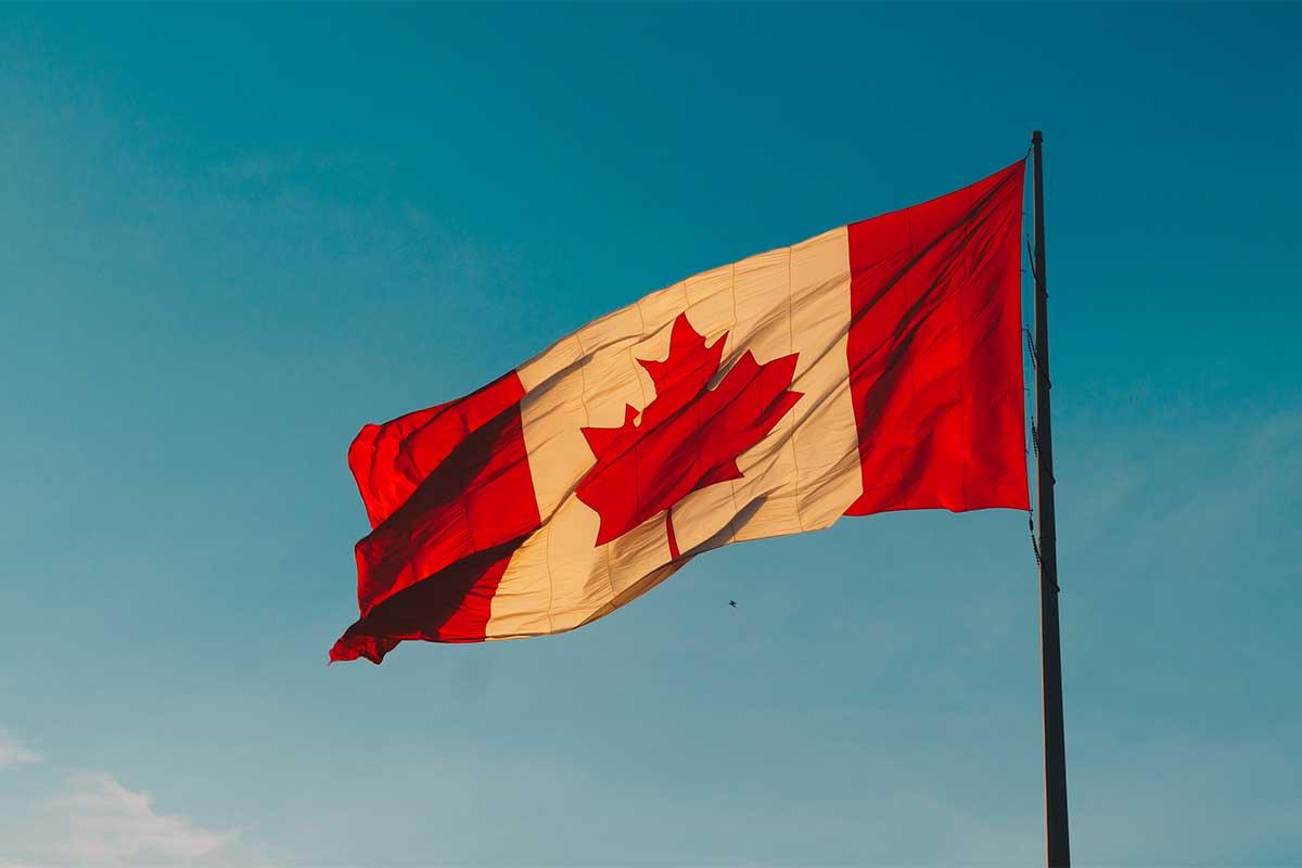 Biometrische Daten Kanada Flag