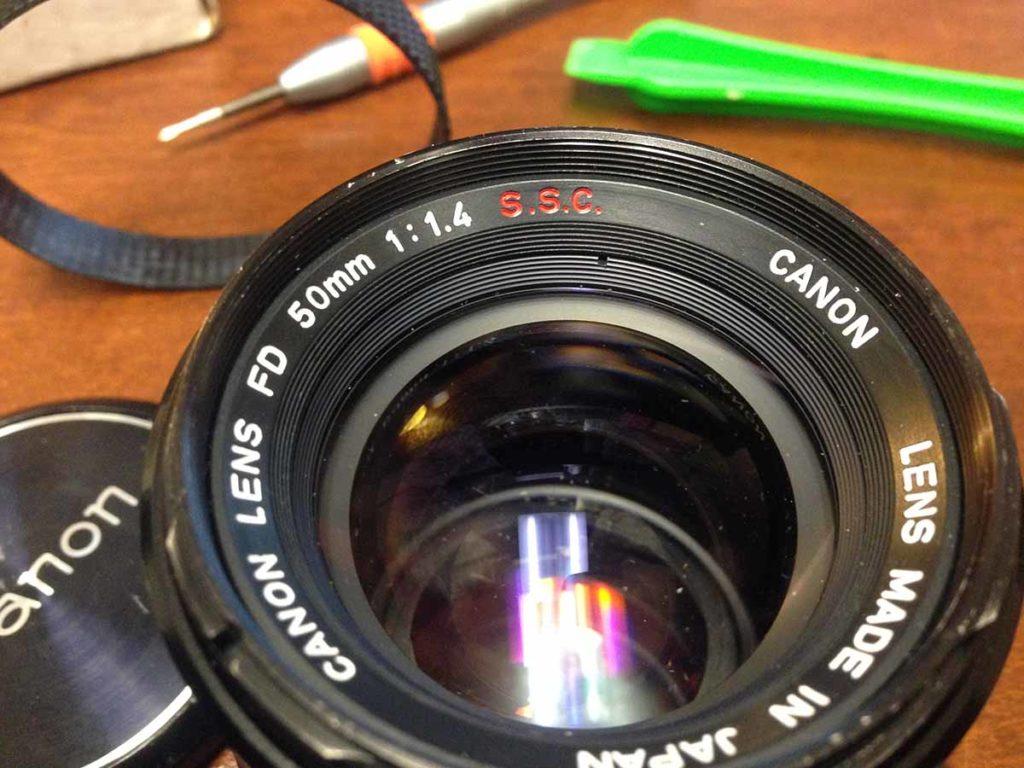 Canon FD 50mm F1_4 Objektiv Umbau