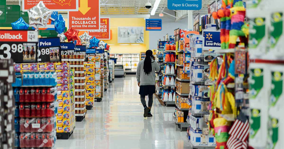 Supermarkt in Kanada Einkaufen