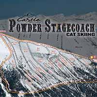 Kanada Castle Mountain Ski Resort - Karte Powder Stagecoach