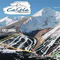 Kanada Castle Mountain Skigebiet - Karte Cat Skiing