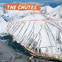 Kanada Castle Mountain Skigebiet - Karte The Chutes