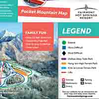 Kanada Fairmont Hot Springs Skigebiet - Karte Pocket Map