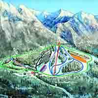 Kanada Fairmont Hot Springs Skigebiet - Karte Ski Area