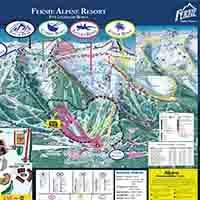Kanada Fernie Skigebiet - Karte Fernie Alpin Resort
