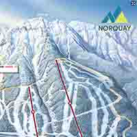Kanada Mt. Norquay Skigebiet - Interaktive Karte