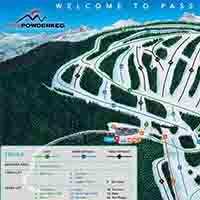 Kanada Powder King Skigebiet - Karte