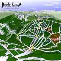 Kanada Powder King Skigebiet - Trail Map Full