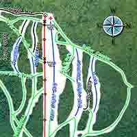 Kanada Wapiti Ski Hill Elkford Skiegebiet - Karte