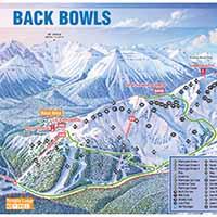 Lake Louise Skigebiet - Karte BACK BOWLS