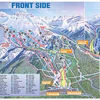 Lake Louise Skigebiet - Karte FRONT SIDE und LARCH