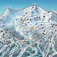 Marmot Basin Skigebiet - Karte