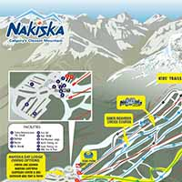 Kanada Nakiska Skigebiet - Karte