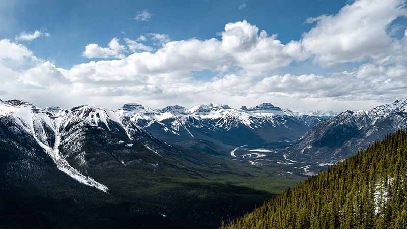 Sulphur Mountain in Alberta Kanada Rocky Mountains