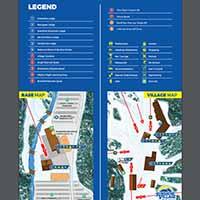 Sunshine Village Skigebiet - Karte Base Village