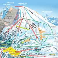 Sunshine Village Skigebiet - Karte LookOut Mountain