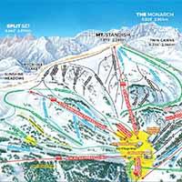 Sunshine Village Skigebiet - Karte Standish Mountain