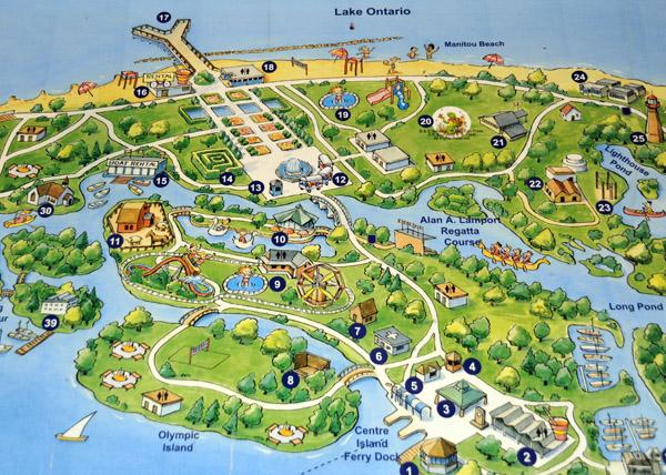 Lake Ontario Toronto Islands in Kanada