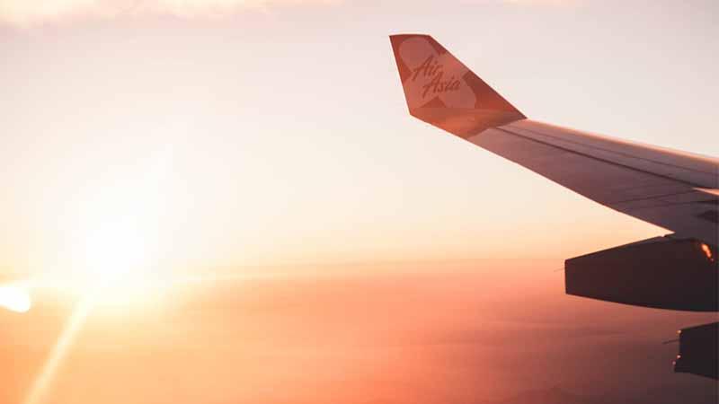 günstige Flüge finden - Sonnenuntergang