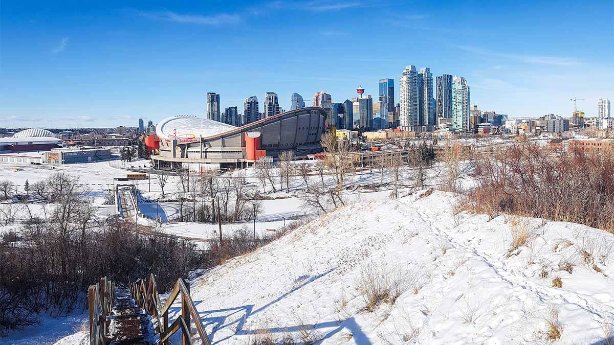 Saddledome Skyline Calgary Kanada