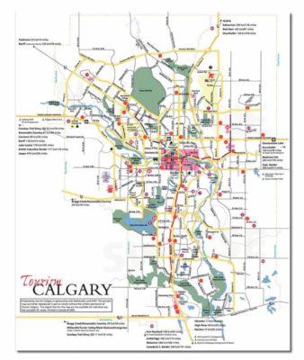 Stadtkarte Calgary Kanada - Map