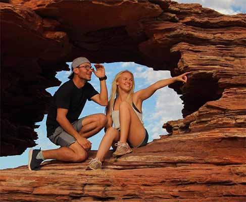 Elina und Daniel in Australien