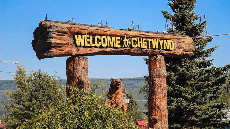 Kanada Blog - British Columbia und Welcome to Chetwynd