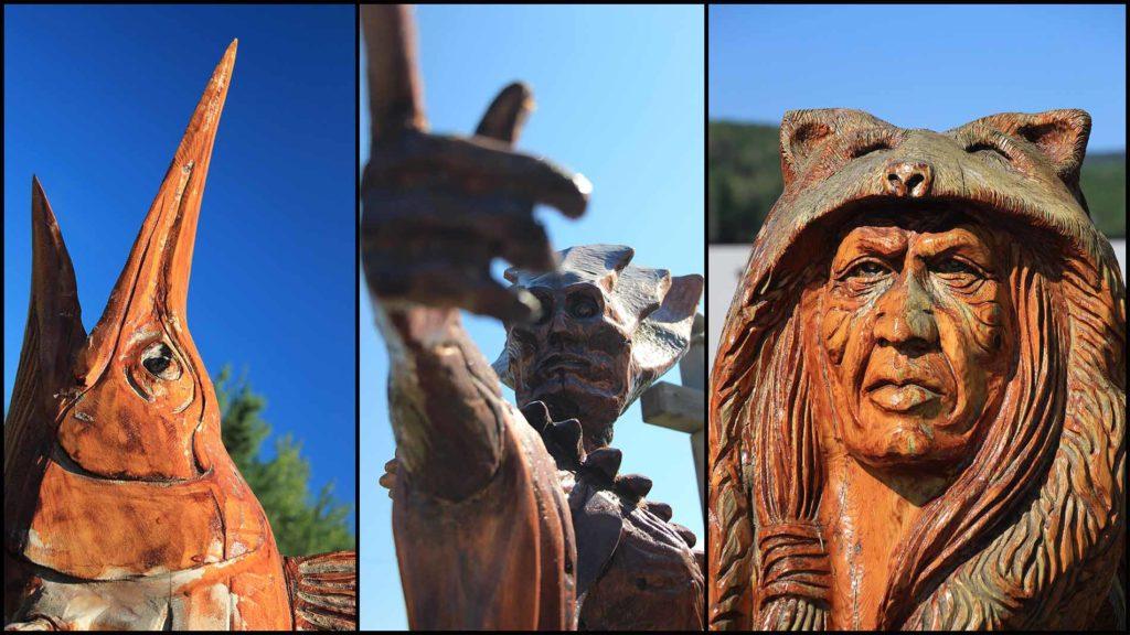 Holz-Skulpturen aus Chetwynd in BC Kanada