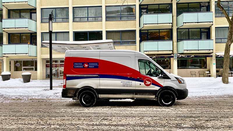 Canada Post Fahrzeug in Kanada