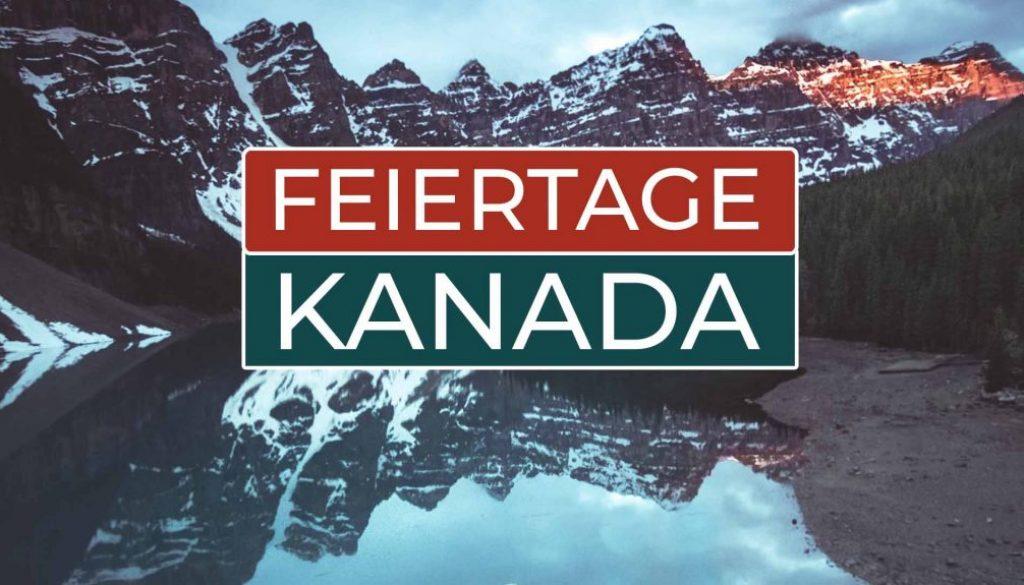 Kanadische Feiertage - Cover